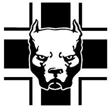 Kreuz Hund Aufkleber