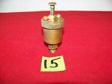 Nice Renown Vintage Brass T-Handle Hit Miss Engine Grease Cup Oiler # 0