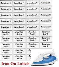 48+12 FREE White Iron On Personalised Name Clothing Labels - (22*09) Warm Wash