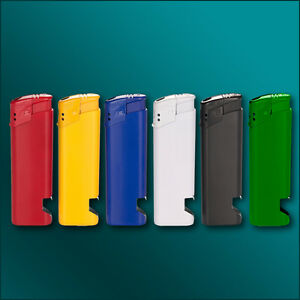 Elektronik-Feuerzeuge mit Öffner inkl. 4-farbigen Fotodruck/ Werbung/ Logo Druck