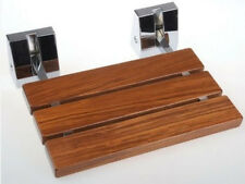 Moisture-resistant Teak Wood Folding Shower Seat Wide Base Stools Benches