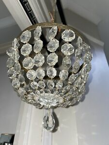 vintage basket large crystal chandelier