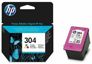 Genuine Original HP 304 Black Colour Ink Cartridge 2022 Dates - N9K06A N9K05A