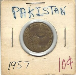 1957 Pakistan One pice coin