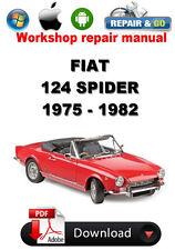 Fiat 124 Spider 1975-1982 Workshop Repair Manual