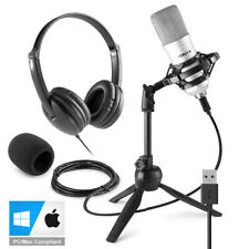 More details for usb studio microphone for pc mac recording with stand, headphones cm300s vh100