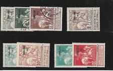 Belgium, Postage Stamp, #B17-B24 Mint & Used, 1911, Jfz