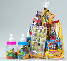 Japanese Foods Assorted Snack & 2 Bottled mini Eraser Candy & Toy Fun set