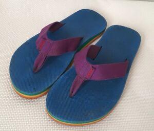 Teva Flip Flop 5 Blue Purple Yellow Orange Deckers