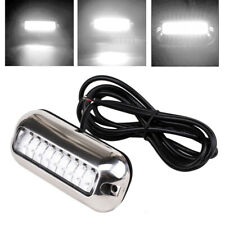 White 27 LED Underwater BOAT/MARINE Transom LIGHT 316 Stainless Steel Pontoon#