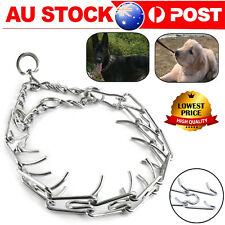 Pet Dog Training Collar Metal Choke Chain Adjustable Steel Prong Pinch S-XL AU
