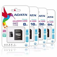 ADATA 16GB 32GB 64GB microSD SD SDHC SDXC Class 10 TF Flash Memory SD Card Lot