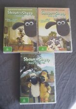 Shaun the Sheep DVD's x 3 (Save the Tree/Washday/Still Life) Rated G, Region 4,