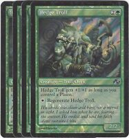 TCG 59 MtG Magic the Gathering Hedge Troll Pre Release Promo Playset (4)