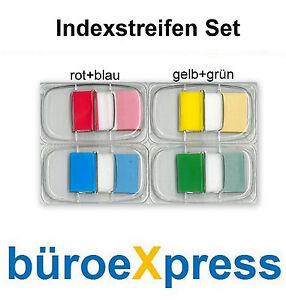 2 x Indexstreifen blau/rot oder gelb/grün im Spender NEU&OVP Index markieren