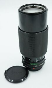 Canon FD 70-210mm f/4 MF Telephoto Lens w/ OEM Caps #332