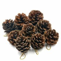 12pcs Christmas Pine Cones Baubles Xmas Tree Party Hanging Decorations Ornament