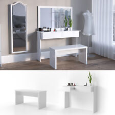 """Schminktisch """"Azur"""" Weiß mit Sitzbank Kosmetiktisch Frisierkommode Frisiertisch"""