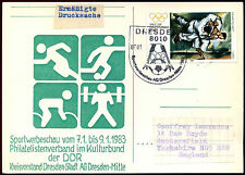 East Germany 1983 Sports Illustrated H/S Stationery Postal Card #C36074