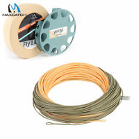 Maxcatch Single handed spey Fly Fishing Line WF3F-8F 90ft With 2 welded loops