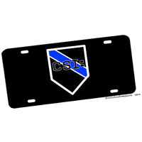 Thin Blue  Line Put On The Whole Armor of God Police License plate