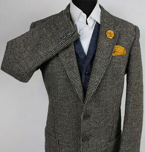 Harris Tweed Blazer Jacket Grey 42R SUPERB QUALITY X375