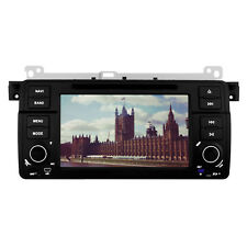 "7""Car DVD Player GPS SAT NAV iPod Bluetooth Stereo Radio for BMW E46 M3 330 325"