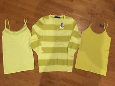 NWT NWOT The Limited Cardigan Sweater & Camisole Lot Small & Medium Spring