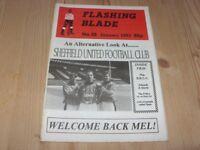 Flashing Blade  (Sheffield Utd fanzine) No 28  1993