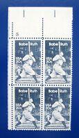 Sc # 2046 ~ Plate # Block ~ 20 cent Babe Ruth Issue (da15)