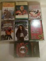Cassette Tapes Lot Of 7 Christmas Beach Boys Kenny Rogers Elvis Judds classics