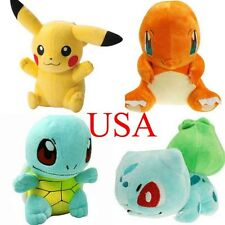 4 Pcs Set Pokemon Pikachu Bulbasaur Squirtle Charmander Plush Toy Stuffed Doll