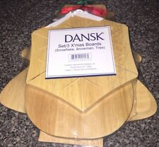 Dansk Lot Of 3 Christmas Shapes  Cutting Boards NEW