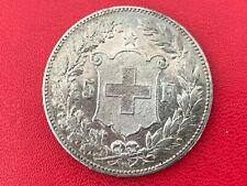 Suisse 5 Francs 1890 B Bern Argent TB + II - Swiss Helvetia