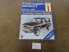 A128 Haynes 36070 Ford Ranger Bronco II  1983- 1992 Service Repair Manual 2 4WD