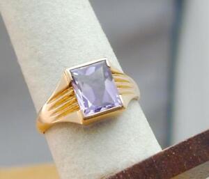 18k gold vermeil Rose Gold Ring mens ring Amethyst Natural Mens Ring Handmade Natural Ring Light blue 925 Sterling Silver Ring
