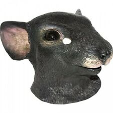 Adult Latex Black Rodent Mouse Rat Animal Head Fancy Costume Mask Full Face