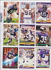 Minnesota Vikings 9 card Lot