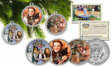 WIZARD OF OZ Genuine JFK Half Dollar3-Coin Set CHRISTMAS Tree Ornaments Holders