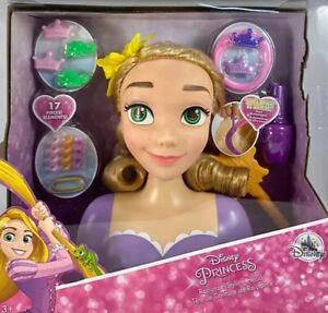 NEW Disney store disney Princess Tangled Rapunzel Styling Head