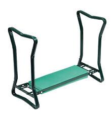 Sgabello da giardino pieghevole e sedile a panchina multi uso maniglie laterali per disabili NUOVO