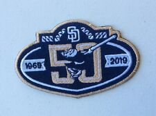 2019 SAN DIEGO PADRES PATCH 50TH ANNIVERSARY JERSEY STYLE MLB BASEBALL OFFICIAL