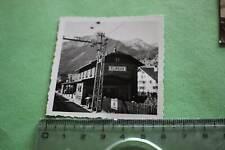 tolles altes Foto - Bahnhof  Flirsch - Gebäude