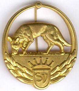 Old German Shepherd Item WWII - No. 3 334 -Gold orig. Nadel, I/II