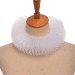 Renaissance Opera Detachable Collar Theater Cosplay Neck Ruff Ruffled Collar