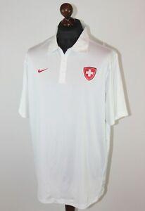 Switzerland Swiss Olympic Team white polo shirt Nike Size L
