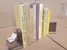 Lot of 10 Hardcover Tan Brown Cream Beige Shade Book Stage Decor Wedding Library