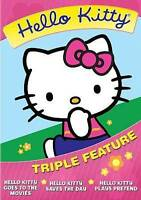 Hello Kitty Triple Feature (DVD, 2014) 3 Disc Set - Goes To Movies FREE SHIPPING