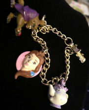 Disney Beauty and The Beast Charm Bracelet Vintage by Applause 80's Belle