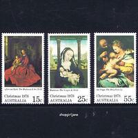 1978 - Australia - Christmas - set of 3 - Van Eyck, Marmion, del Vaga paintings